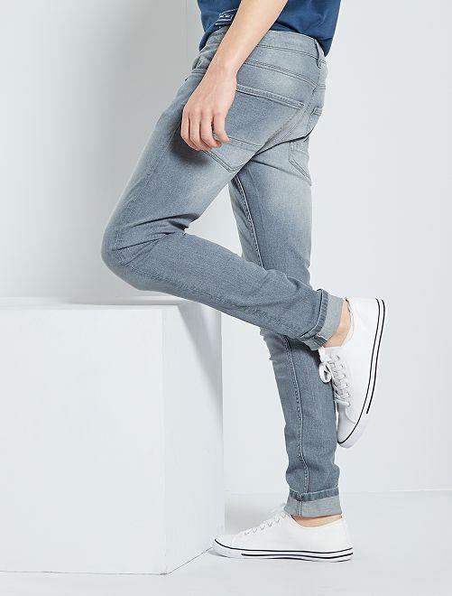 Jean skinny délavé                                                     gris clair