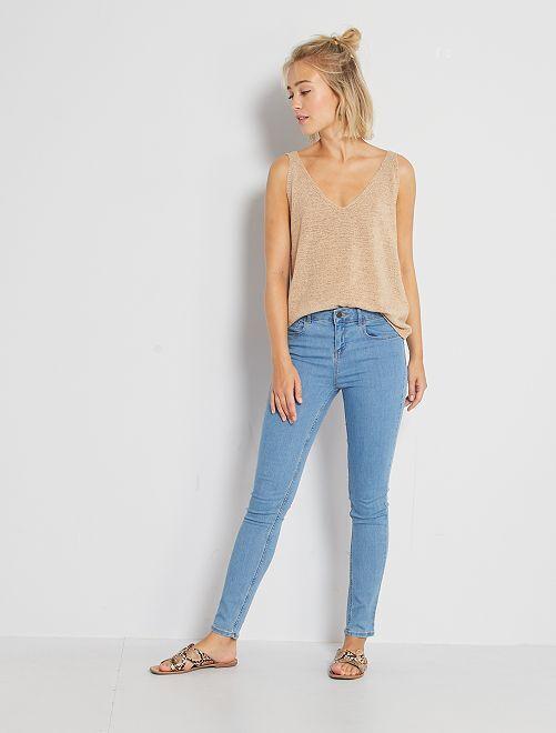 Jean skinny                                                                                                     double stone Femme