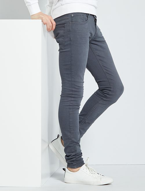 Jean skinny 'éco-conception'                                                                             GRIS