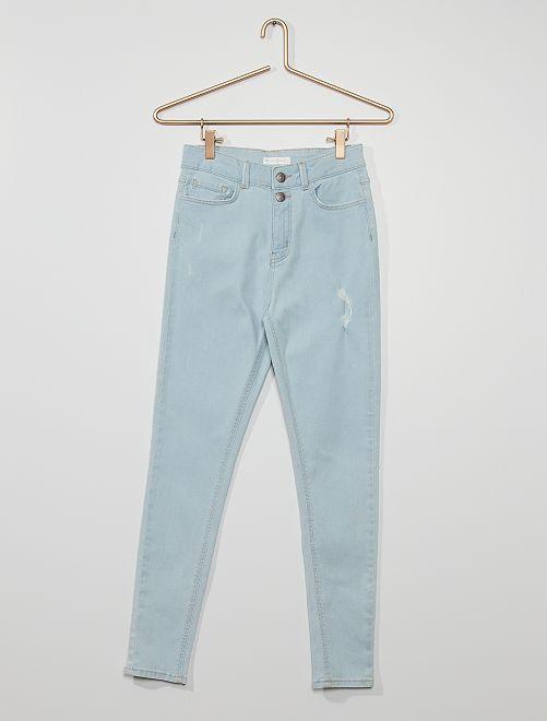 Jean skinny éco-conçu                                                                 bleu