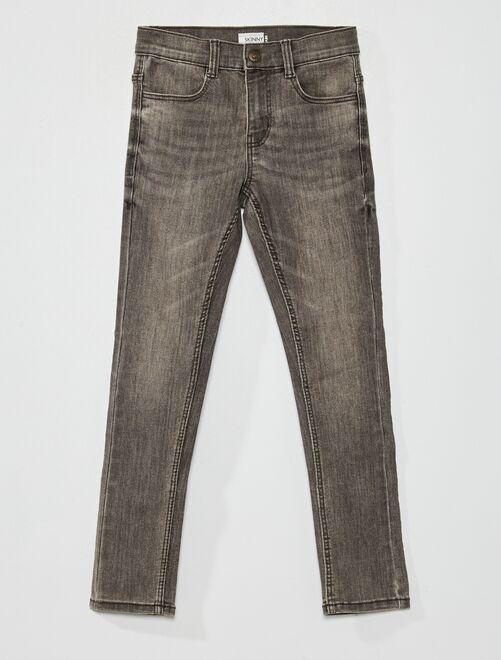 Jean skinny éco-conçu                                                                 denim gris