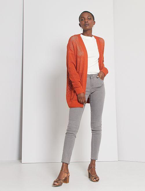 Jean skinny éco-conçu                                                                                                     gris clair