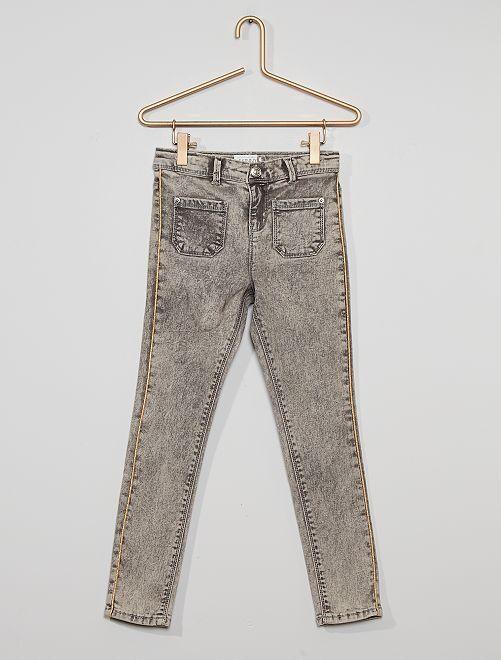 Jean skinny éco-conçu                                                                 gris