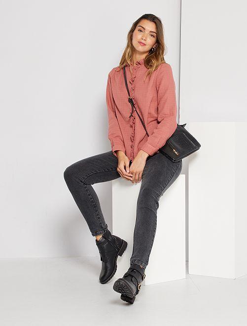 Jean skinny 'éco-conçu'                             gris foncé