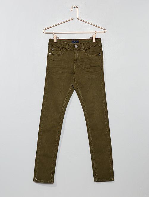 Jean skinny éco-conçu                                                     kaki