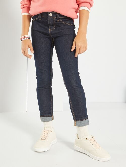 Jean skinny éco-conçu                                                                             navy