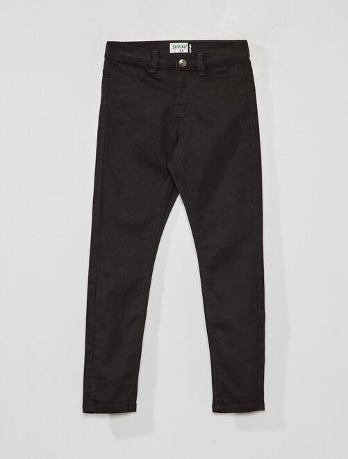 Jean skinny éco-conçu                                                                 noir