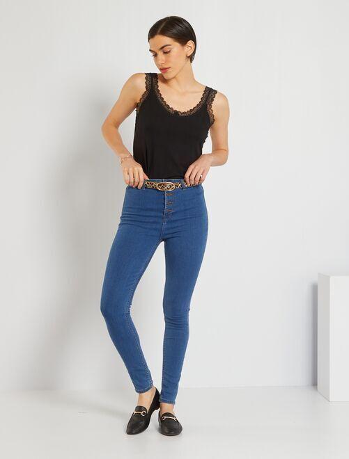 Jean skinny éco-conçu                                                                 stone