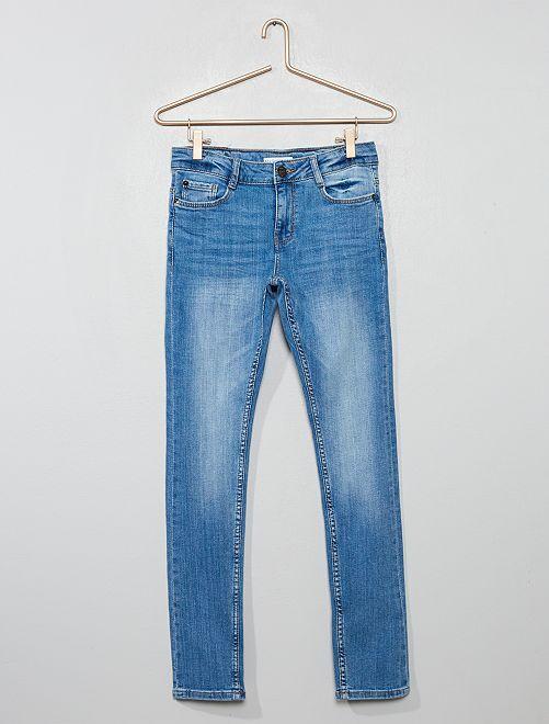 Jean skinny effet délavé                                         bleu