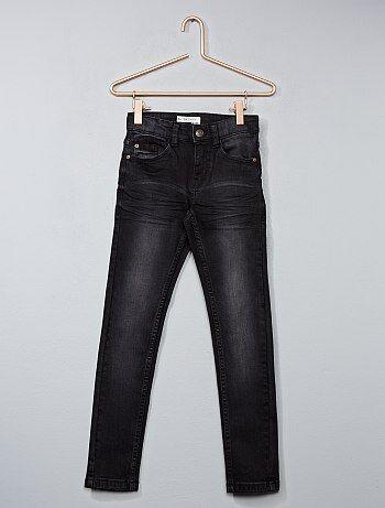 Jean skinny effet délavé