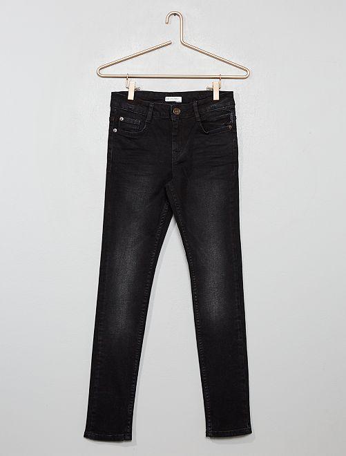 Jean skinny effet délavé                                         noir