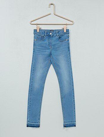 Fille 3-12 ans - Jean skinny effet d'usure - Kiabi