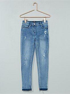 Jean skinny effet d'usure