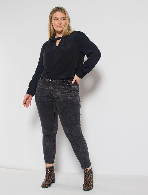 Jean skinny effet neige                             noir