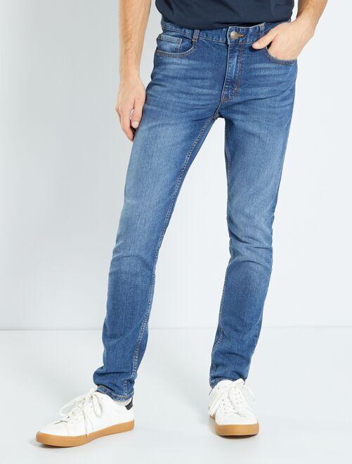 Jean skinny effet plissé                                                                 BLEU Garçon adolescent
