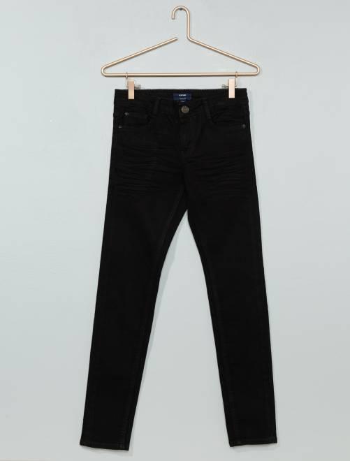 Jean skinny effet plissé                                                     denim black Garçon adolescent