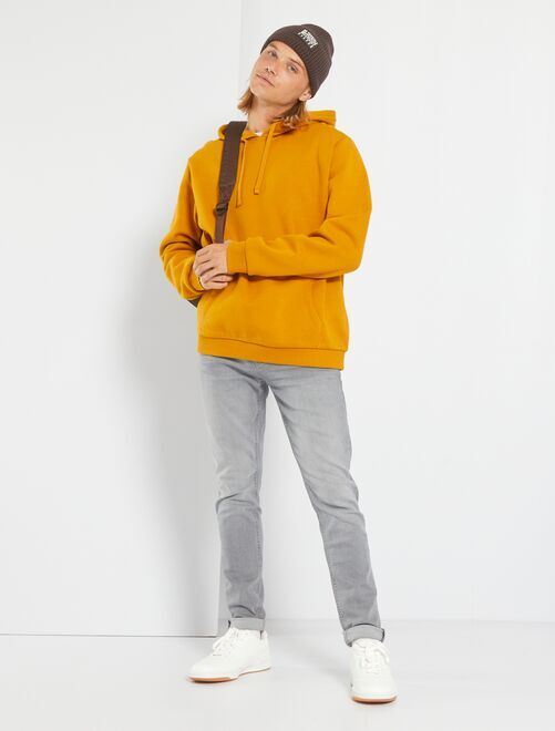 Jean skinny effet plissé                                                                 gris Garçon adolescent