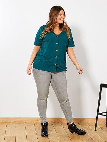 Grande taille femme - Jean skinny effet push-up L30 - Kiabi