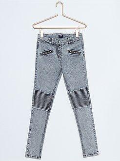 Fille 4-12 ans Jean skinny empiècements genoux