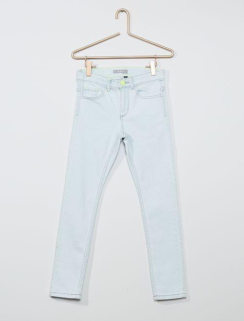 Jean skinny en coton stretch                             BLEU