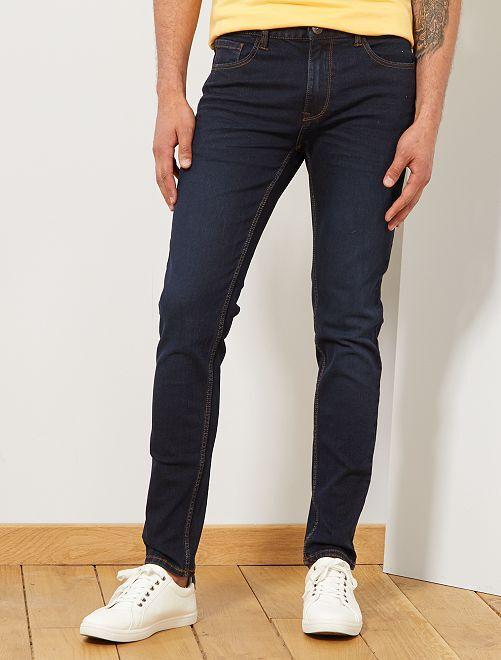 Jean skinny en coton stretch                                                                                         bleu indigo