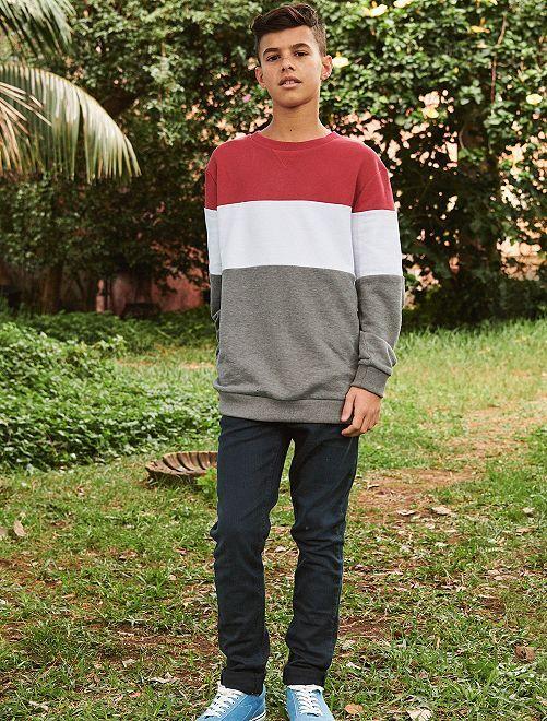 Jean skinny en coton stretch                                                                                                                 bleu marine Garçon adolescent