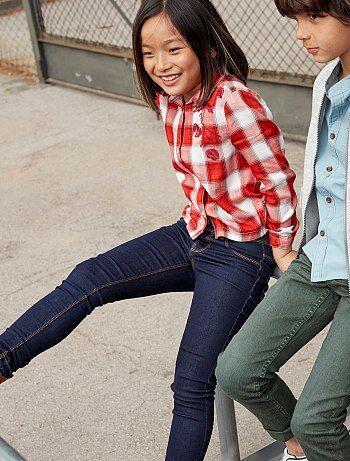 Fille 3-12 ans - Jean skinny en denim - Kiabi