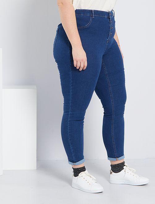 jean skinny en denim stretch taille haute grande taille. Black Bedroom Furniture Sets. Home Design Ideas