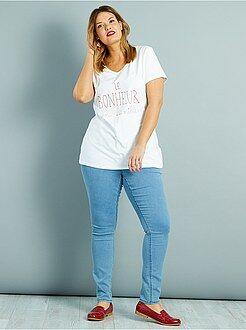 Jean taille 52 - Jean skinny en denim stretch taille haute