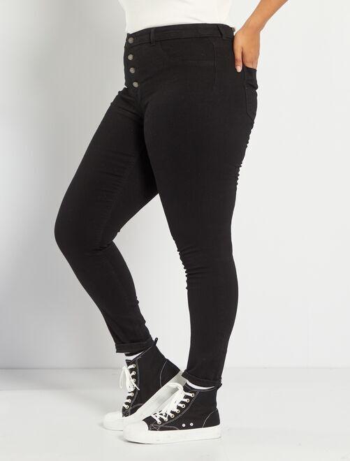 6dd2d8ee170 Jean skinny en denim stretch taille haute Grande taille femme - noir ...