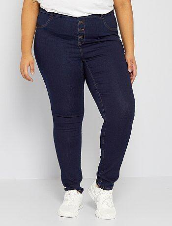 Grande taille femme - Jean skinny en denim stretch taille haute - Kiabi 7b0f6848939
