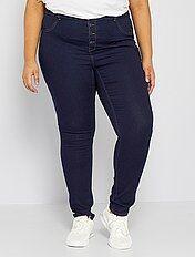 Jean skinny en denim stretch taille haute