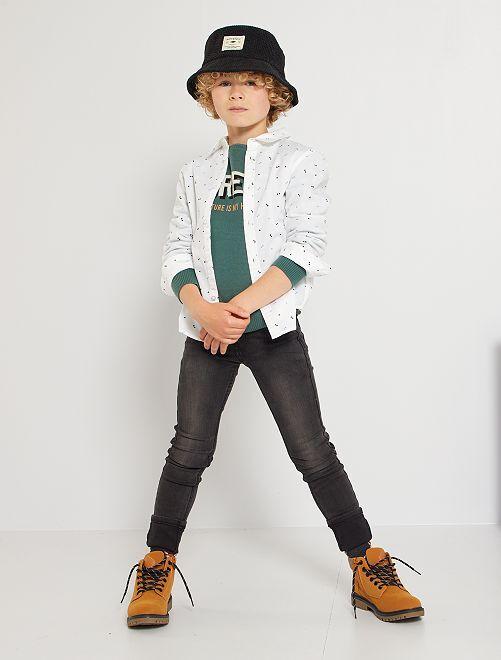 Jean skinny Enfant fin éco-conçu                                         noir