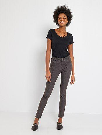 Jeans skinny femme gris