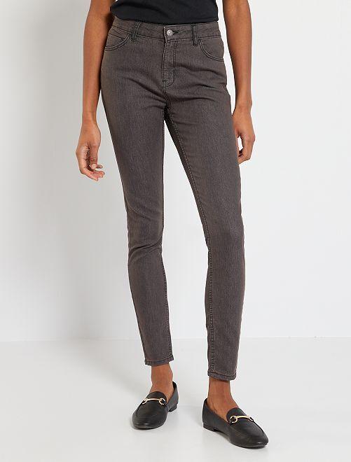 Jean skinny                                                                                                     gris foncé Femme