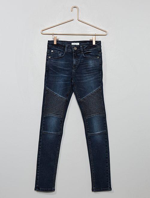 Jean skinny motard                                                     bleu