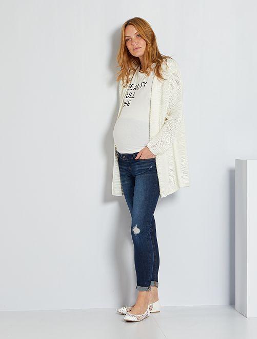Jean skinny push-up de maternité                     bleu rince