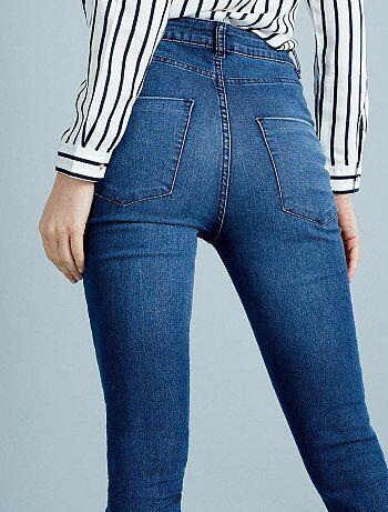 jean skinny super taille haute longueur us 32 femme kiabi 15 00. Black Bedroom Furniture Sets. Home Design Ideas