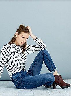 Femme du 34 au 48 Jean skinny super taille haute longueur US 32