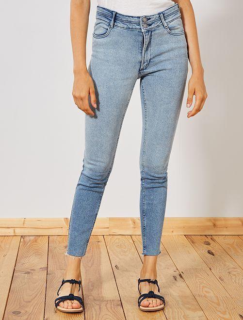 Jean skinny taille haute                             bleaches Femme