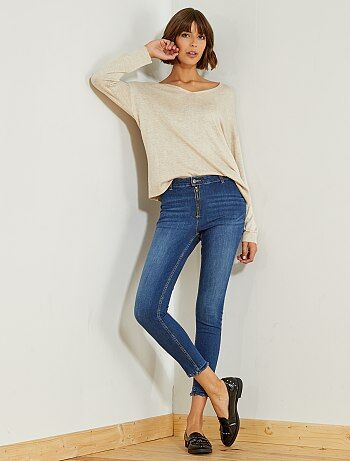Jean skinny taille haute - Kiabi
