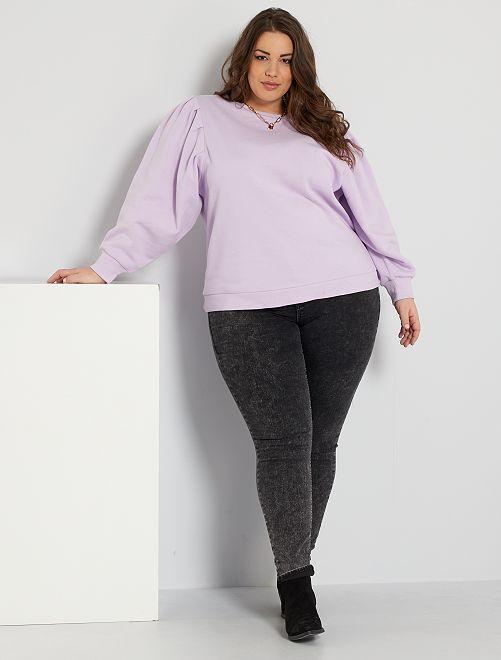 Jean skinny taille haute éco-conçu                                                                             noir neige