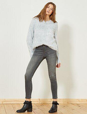 Femme du 34 au 48 - Jean skinny taille haute - Kiabi