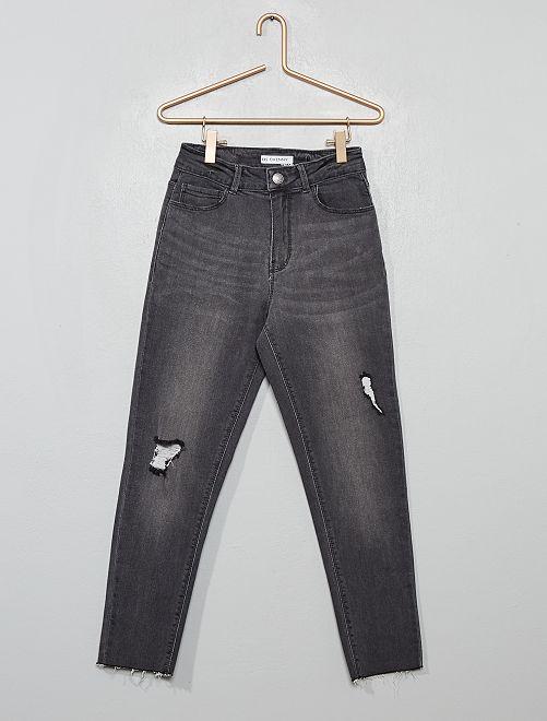 Jean skinny taille haute                                                                 gris