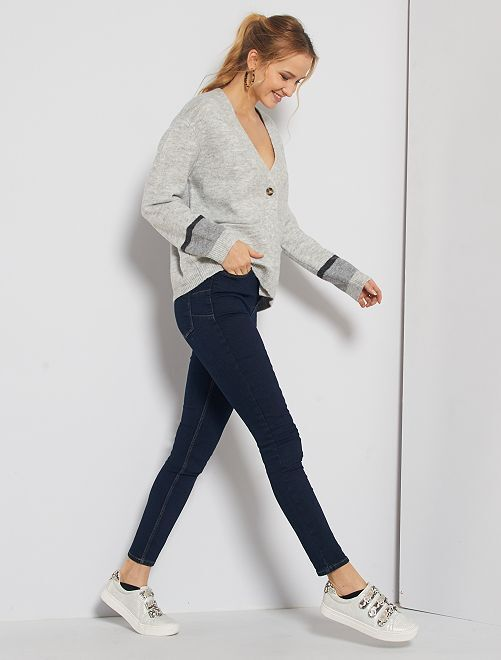Jean skinny taille haute longeur US34                                                                 bleu Rince