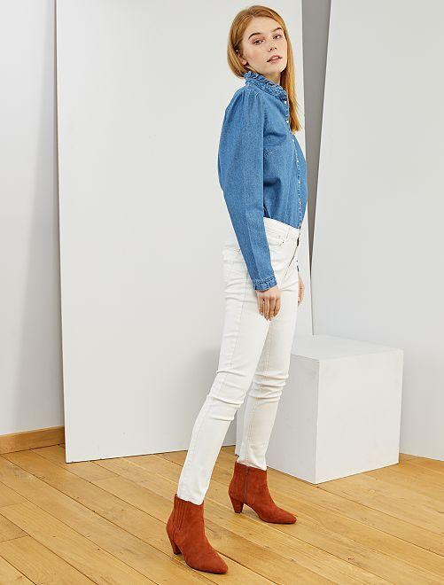 Jean skinny taille haute longueur US 30                                                                                         blanc