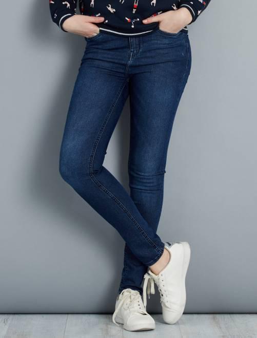Jean skinny taille haute longueur US 30                                                                     bleu  Femme