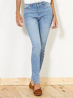 Jean - Jean skinny taille haute longueur US 30 - Kiabi