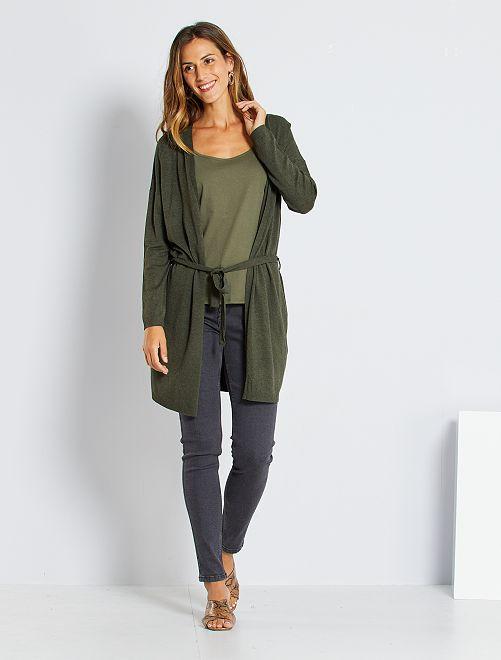 Jean skinny taille haute longueur US 30                                                                                         gris foncé