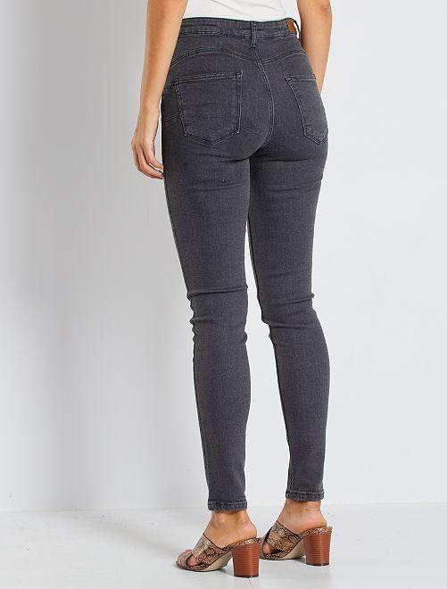 3b3ce7f870 Jean skinny taille haute longueur US 30 Femme - gris foncé - Kiabi ...